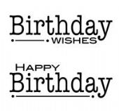 Woodware - Double Birthdays - Clear Magic Single Stamp Set - FRS111